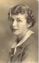 Betty Virginia Carringer (1919-2002) - in 1936 (age 17)
