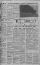 1980 news, Mt. St.Helens erupts. The Dispatch News WA. Historic news from Small Town Newspaper Archives!