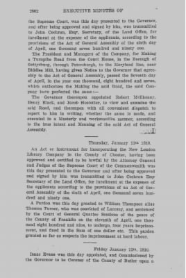 Executive Minutes of Governor Simon Snyder 1808-1812 > Page 2802
