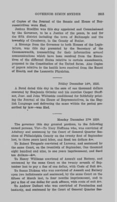 Executive Minutes of Governor Simon Snyder 1808-1812 > Page 2913
