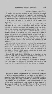 Executive Minutes of Governor Simon Snyder 1808-1812 > Page 2925
