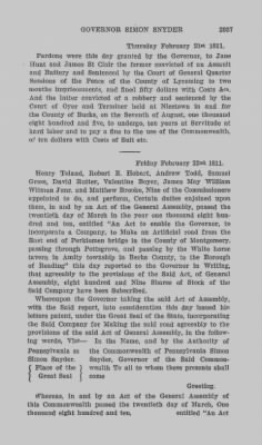 Executive Minutes of Governor Simon Snyder 1808-1812 > Page 2937