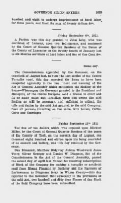 Executive Minutes of Governor Simon Snyder 1808-1812 > Page 3035