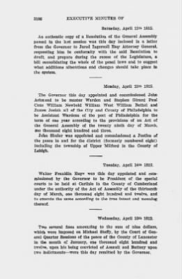 Executive Minutes of Governor Simon Snyder 1808-1812 > Page 3186