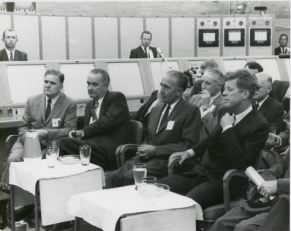 JFK Briefing, inside the LC-34 Blockhouse, Cape Canaveral, Fla.