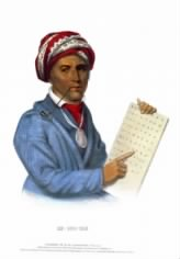 Sequoyah invented the Cherokee written alphabet.