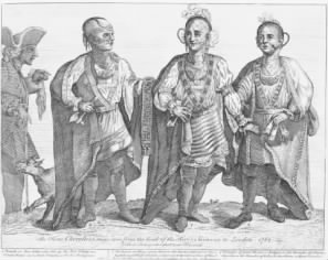 These Three Cherokee visited London during Colonial Times.