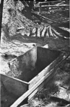 A wheelbarrow at the Maly Trostinets concentration camp used to carry the remains of prisoners after their cremation.jpg