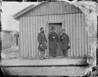 B-73 General Ulysses S. Grant and Portion of Staff, General John A. Rawlins.