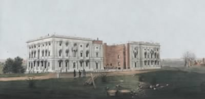 US Capitol in burned ruins in 1814