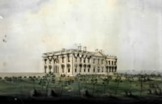 The White House in 1814 after the British Burning