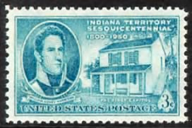 Gov. William Henry Harrison & first Indiana capitol.gif