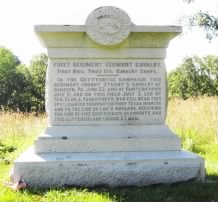Front of the Monument to the First Vermont Cavalry at Gettysburg.jpg