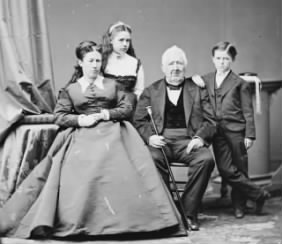 Julia Grant with daughter Nellie, son Jesse, and her father Frederick Dent.jpg