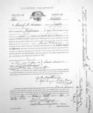 David Andrews Enlistment Document