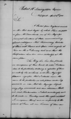 Foreign Ltrs of Robert R Livingston > Page 270
