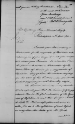 Foreign Ltrs of Robert R Livingston > Page 278