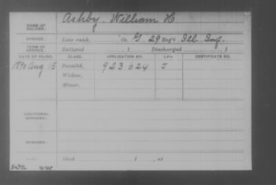 Company G > Ashby, William H.