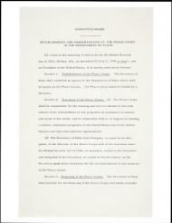 1961 - Peace Corps - Page 1