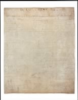 1776 - Declaration of Independence - Page 1