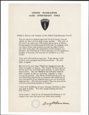 1944 - D-Day Statement - Page 1