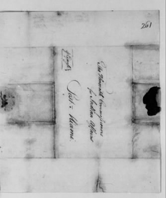Records Relating to Indian Affairs, 1765-89 > Page 261