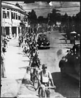 Japanese Bicycle Troops Enter Singapore