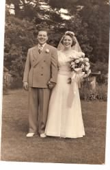 Gene and Lucia on their wedding day.