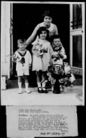 Children presenting flowers to Mrs Coolidge on Child Health Day - 2 May 1925