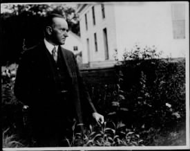 Pres. Coolidge at his boyhood home in Plymouth - Page 1