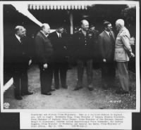 Eisenhower with Winston Churchill and other prime ministers of the British Empire.