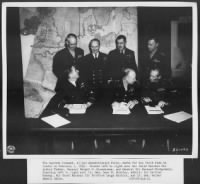 Eisenhower with the Supreme Command of the Allied Expeditionary Force in London - 1945