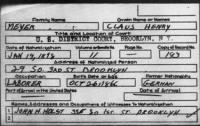 Naturalization Petition for Henry Claus Meyer