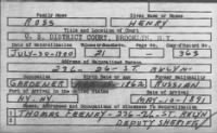 Naturalization Petition for Henry Ross