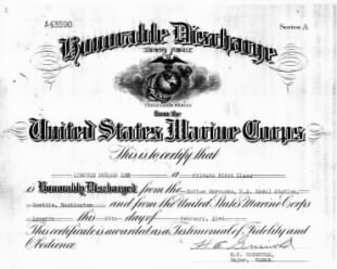 Lee, Lincoln Durand - USMC Honorable Discharge.jpg