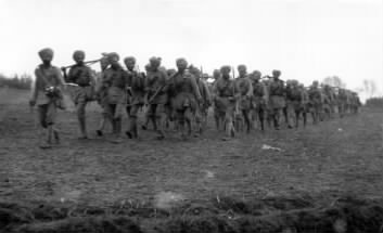 129th (Duke of Connaught's Own) Baluchis near Hollebeke, Belgium, First Battle of Ypres October 1914