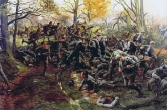 2nd Oxfordshire and Buckinghamshire Light Infantry fight the Prussian Guard at Nonne Bosschen, November 11, 1914