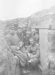 German Soldiers in a trench near Ypres, Belgium, 1914
