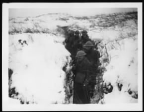 Trenches in the snow WWI