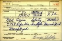 WWII draft registration card