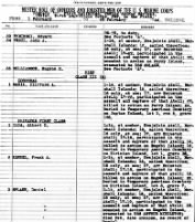 USMC Muster Roll, Co. D, 22nd Marines, Feb. 1944