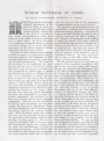 5/26/1900 - Harpers Bazar - Woman Suffrage in Idaho - page 1