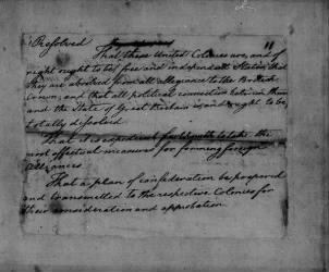 Lee Resolution, 1776. - Page 1