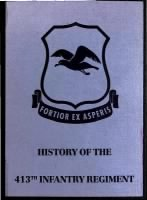 Unit History - 413th Infantry Regiment record example