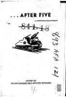 Unit History - 93rd Armored Field Artillery Battalion record example