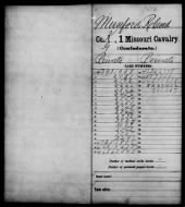 Civil War Service Records (CMSR) - Confederate - Missouri record example