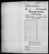 Civil War Service Records (CMSR) - Confederate - Tennessee record example