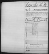 Civil War Service Records (CMSR) - Confederate - Virginia record example