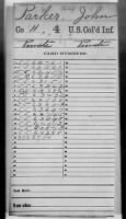 Civil War Service Records (CMSR) - Union - Colored Troops 2nd-7th Infantry record example