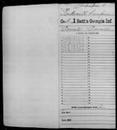 Civil War Service Records (CMSR) - Union - Georgia record example